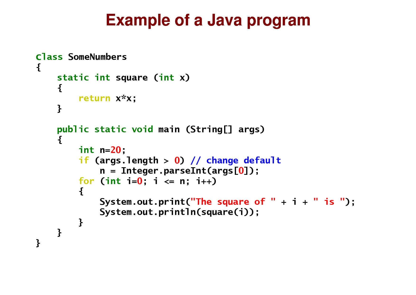 Синтаксис Java
