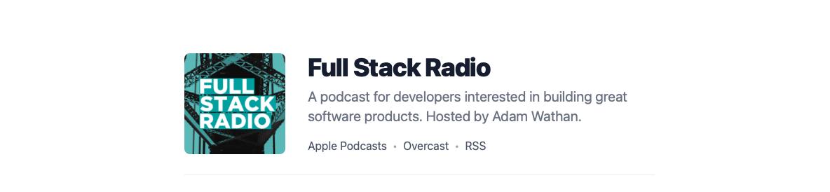 Логотип подкаста Full Stack Radio