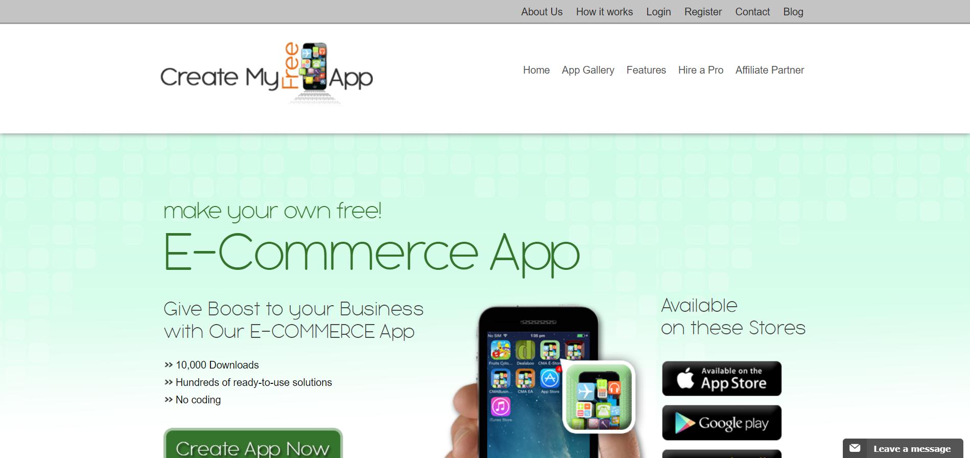 Конструктор мобильных приложений Create My Free App