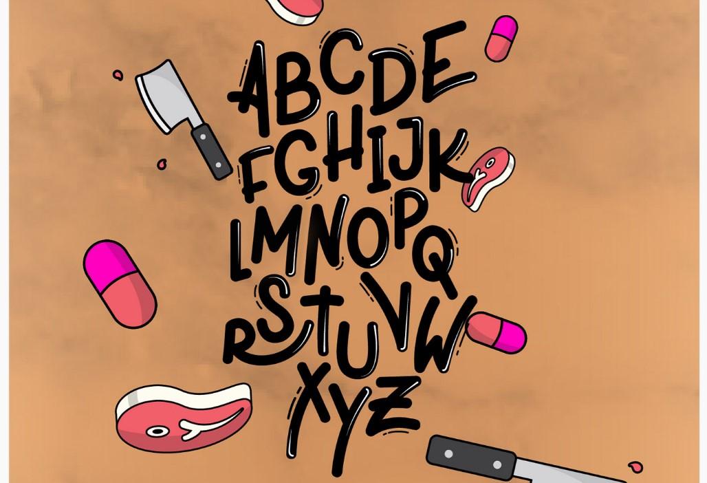 Шрифт XPLOR с уникальными формами при создании лого