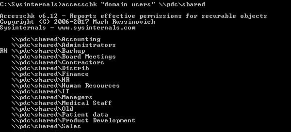 Accesschk Windows Server