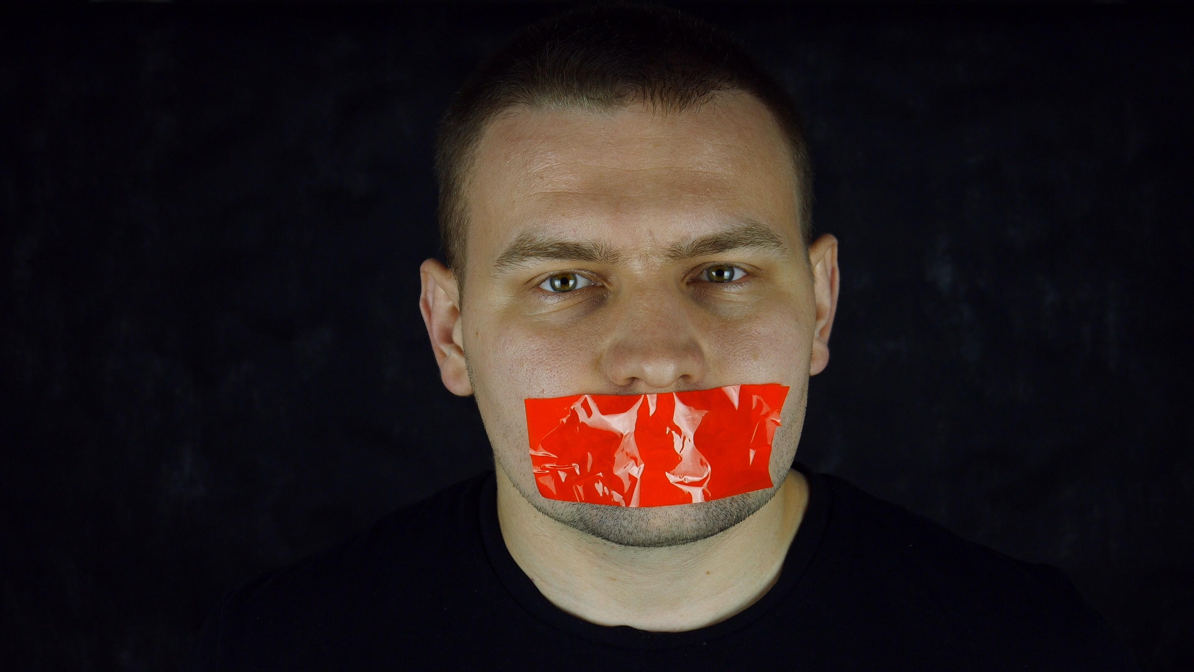 Фото на тему отсутствия свободы слова