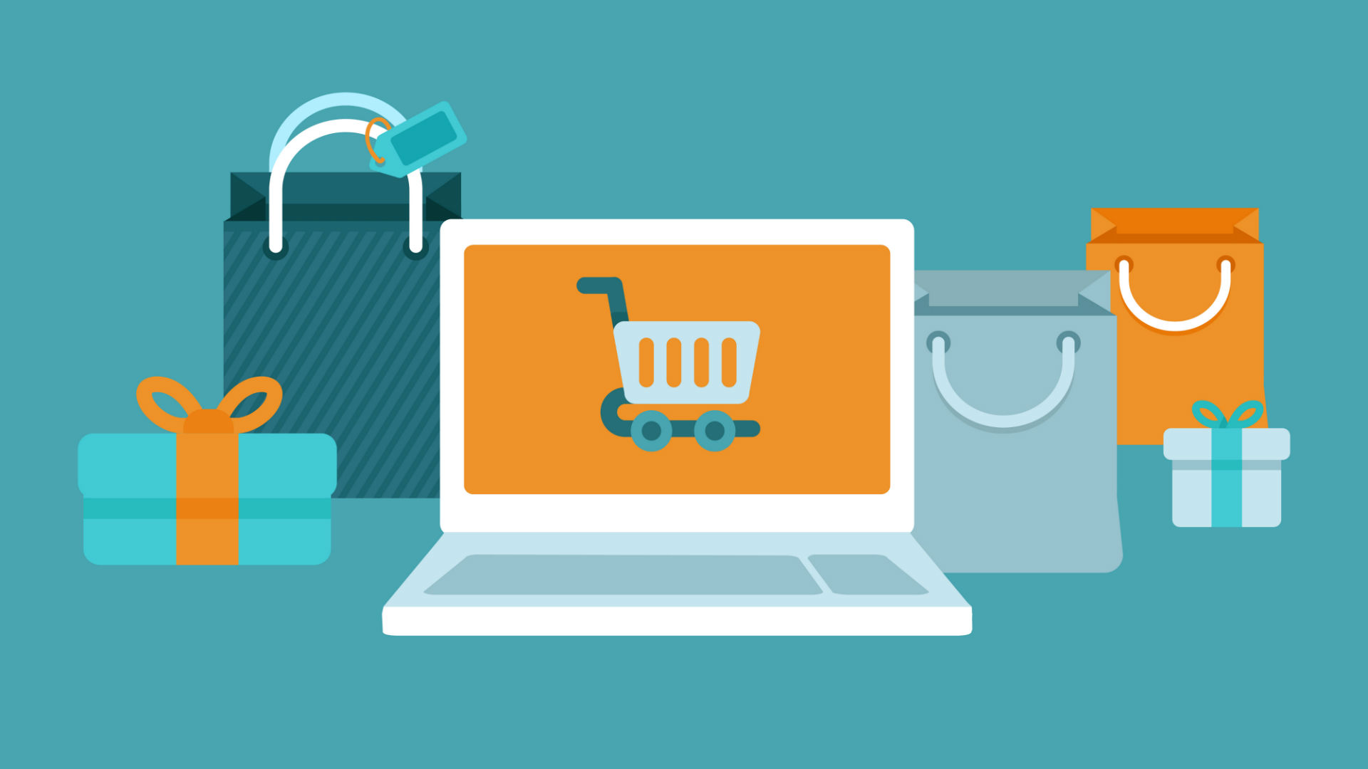 Иллюстрация на тему закупок в интернете