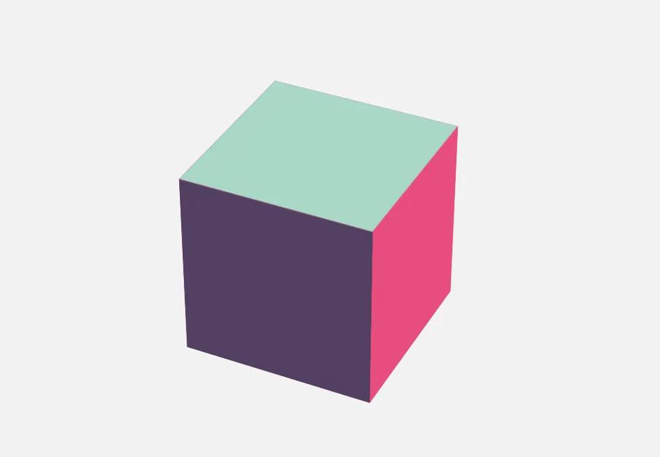 Представление куба при ознакомлении с технологией 3D-графики