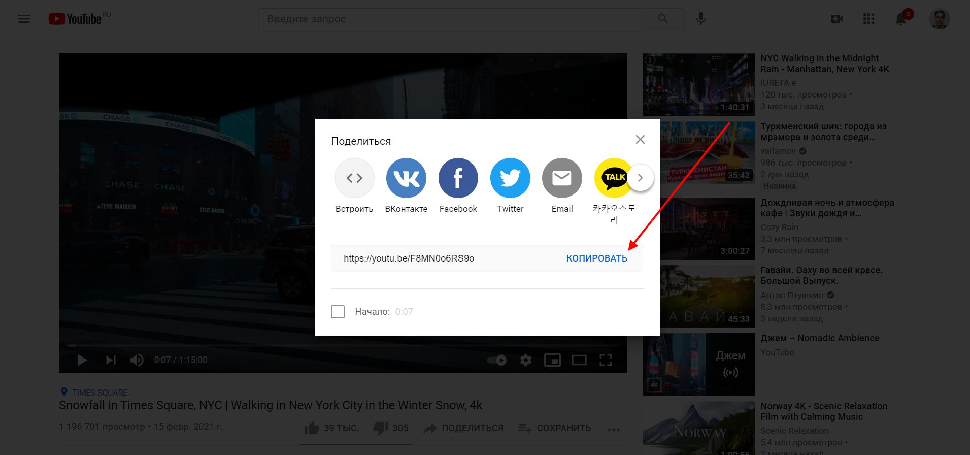 Как загрузить ютуб видео на сайт WordPress