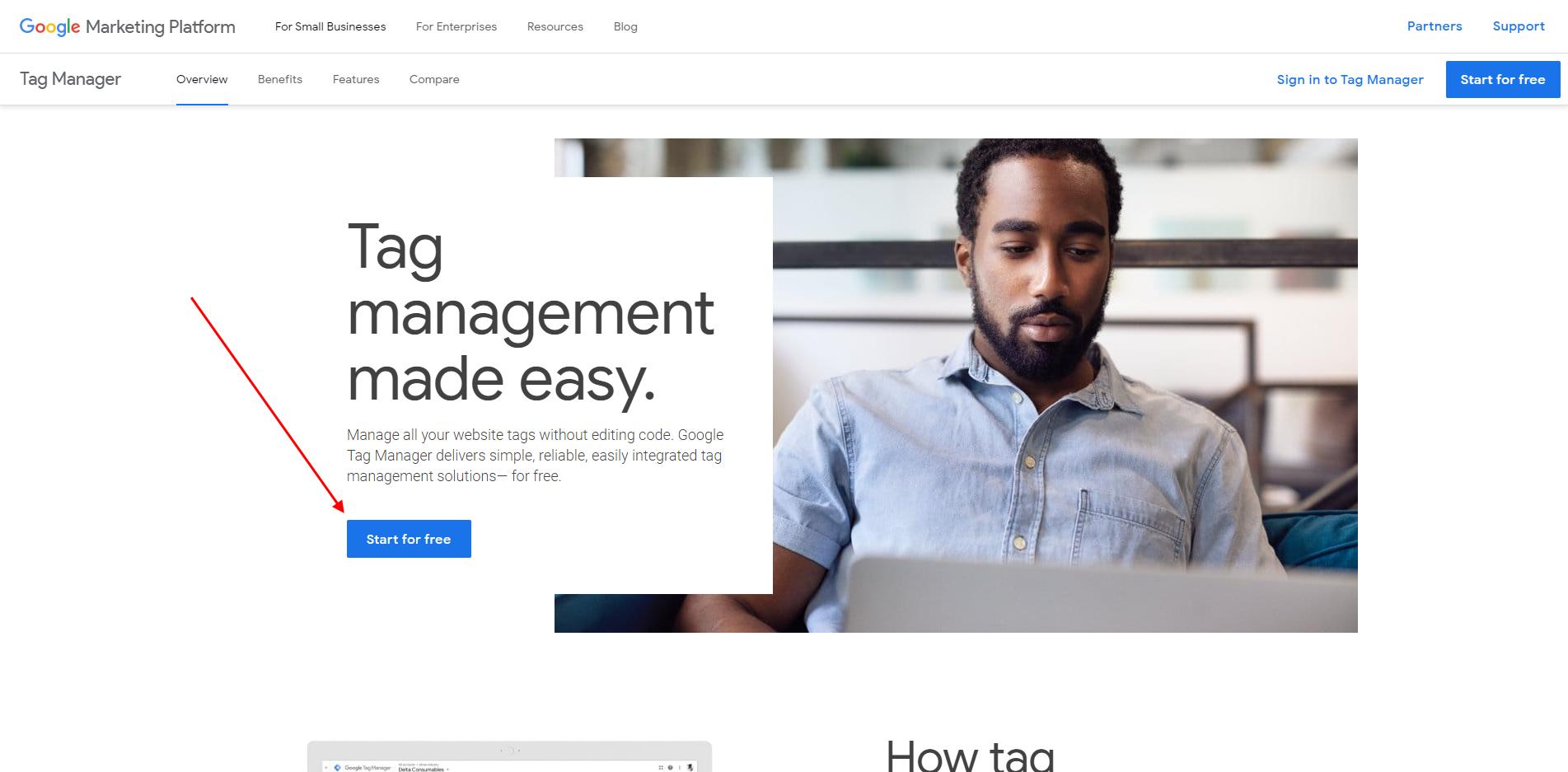 Google Tag Manager регистрация