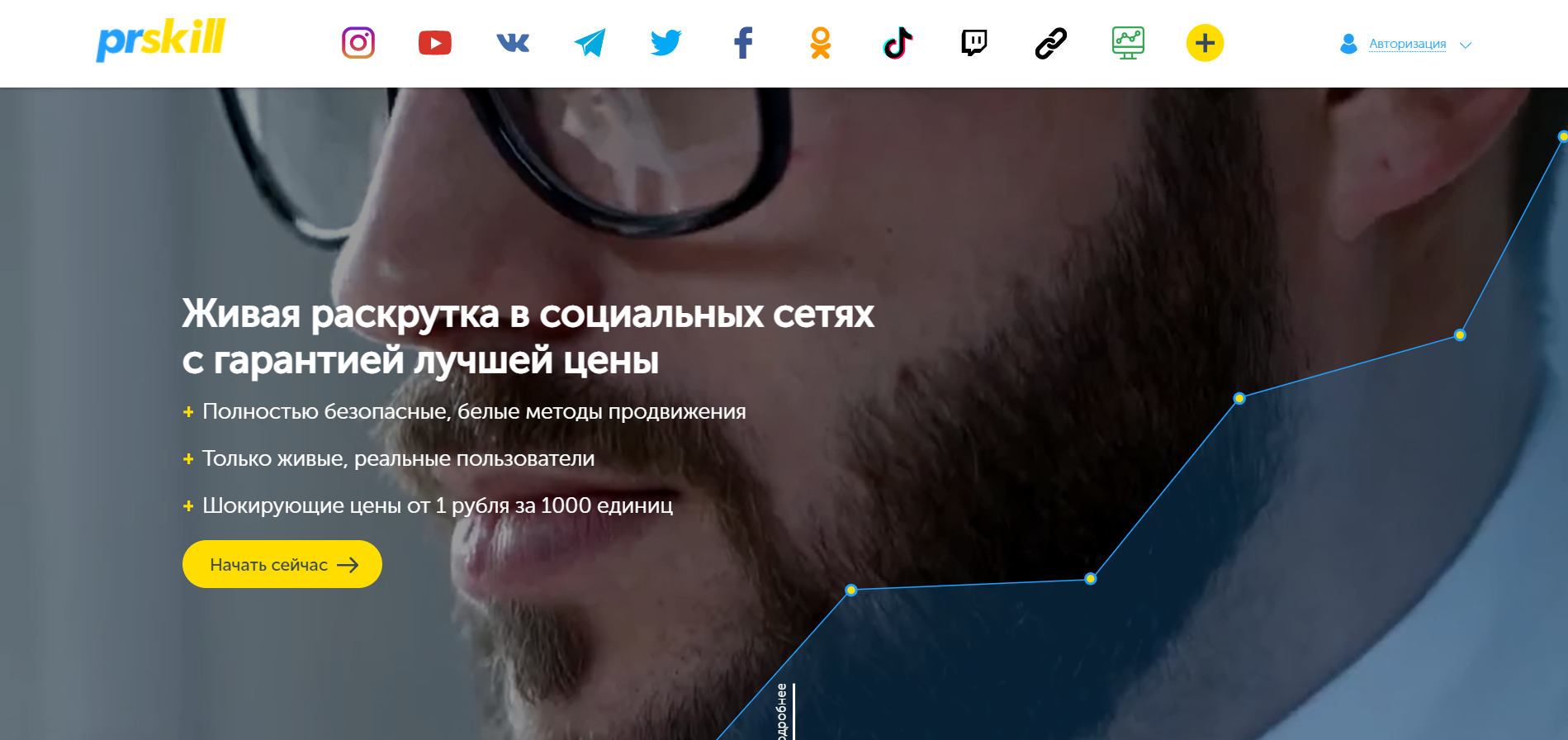PrSkill сервис для накрутки подписчиков в инстаграме