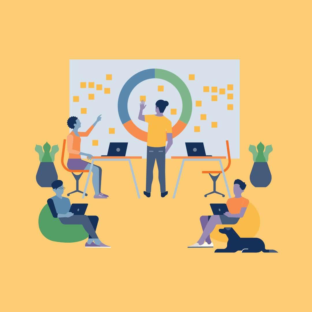 Иллюстрация командной работы и выработки стратегии