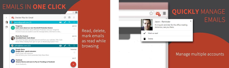 Внешний вид дополнения Checker Plus для Google Chrome