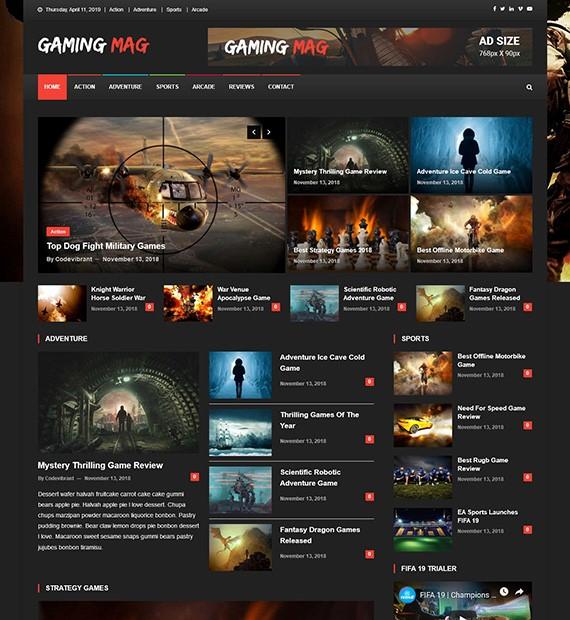 Gaming Mag WordPress плагин