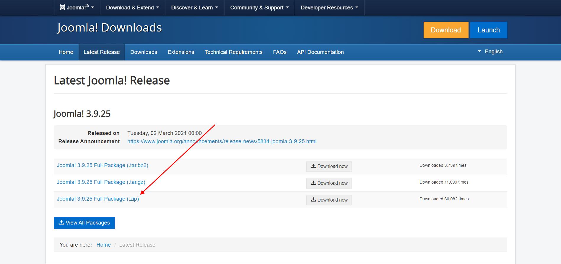 Joomla скачать с официального сайта