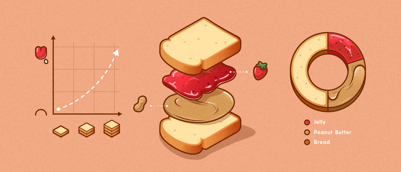 Слайд, описывающий способ приготовления бутерброда