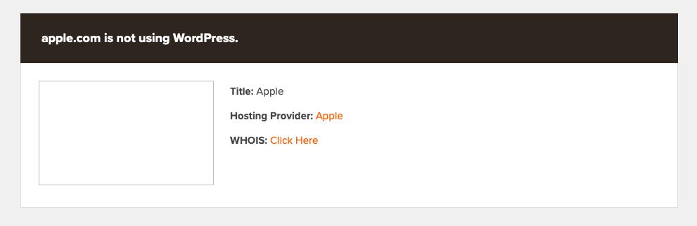 Результат работы WordPress Theme Detector