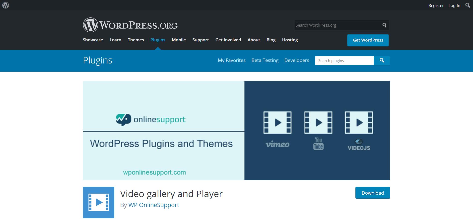 Video Gallery and Player видеоплагин для WordPress