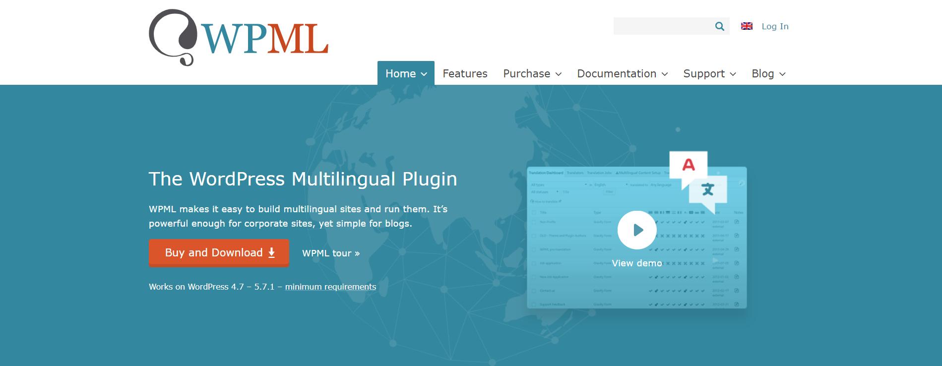 WPML плагин для перевода сайта на WordPress