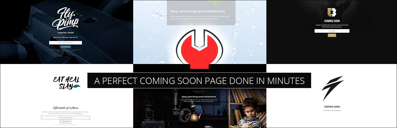 Плагин Minimal Coming Soon & Maintenance Mode