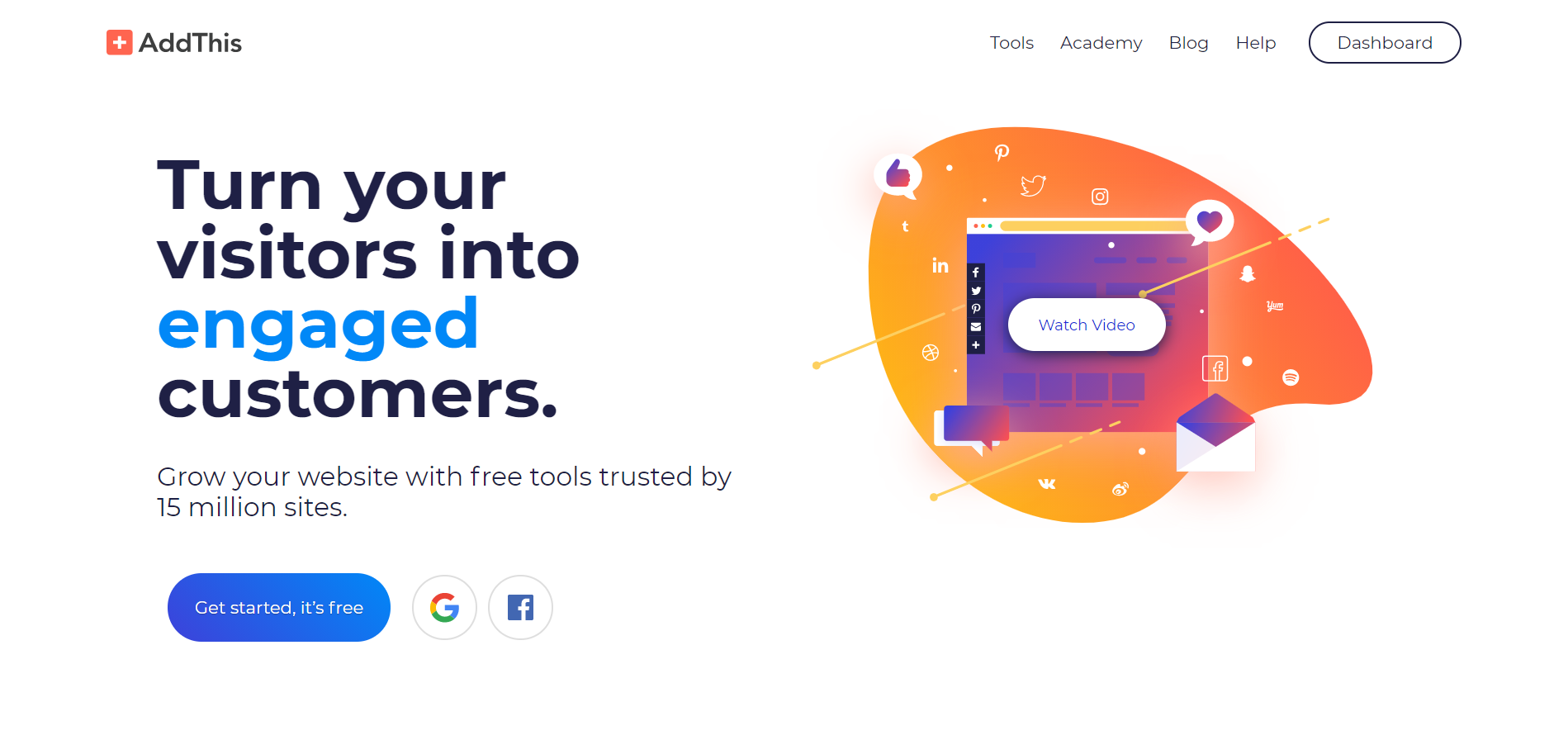 AddThis сервис для создания pop-up окна