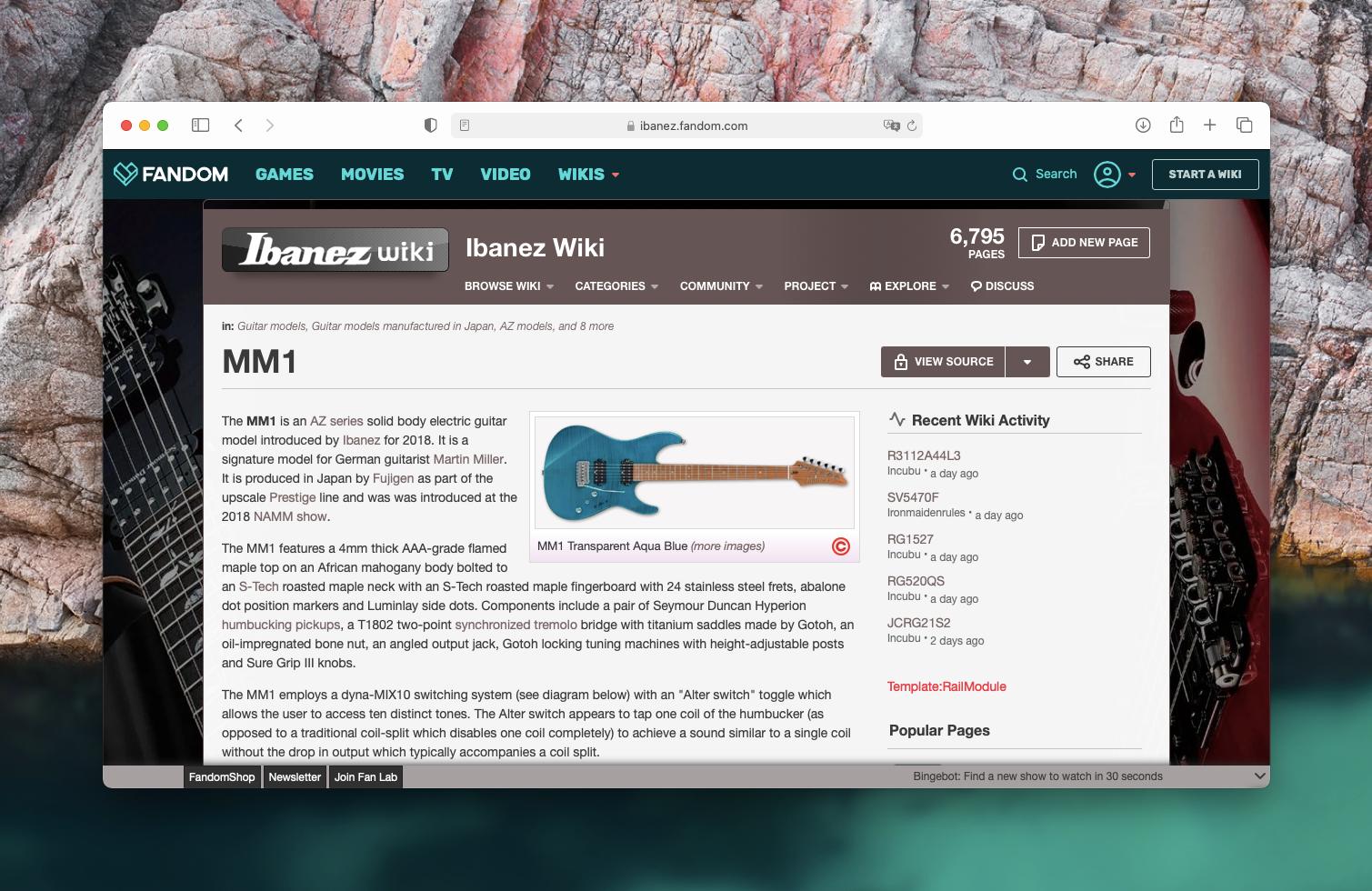 Пример оформления сайта с базой знаний