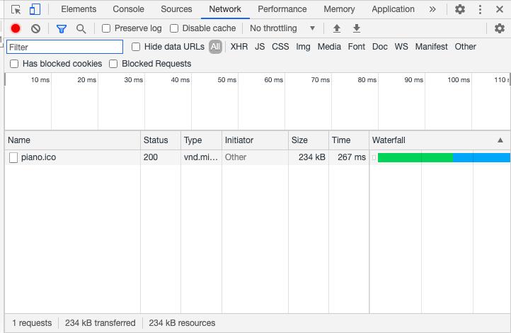 Данные о подключении в Google Chrome