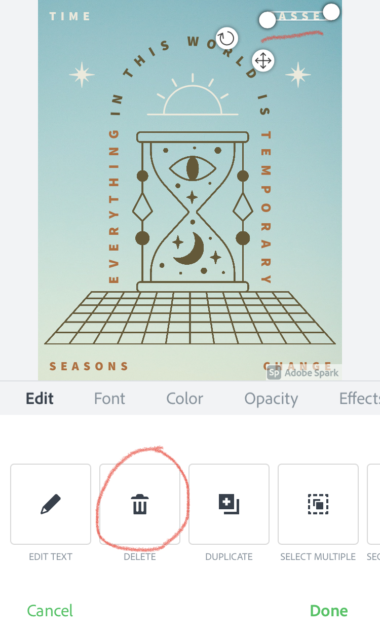 Картинка в Adobe Spark Post
