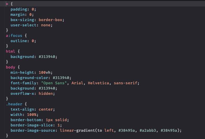 Пример CSS-кода