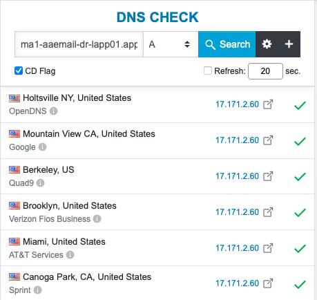Поиск A-записи для почтового сервера