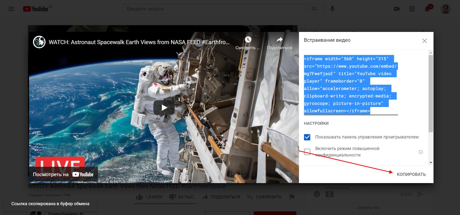 Как встроить видео из YouTube к себе на WordPress сайт