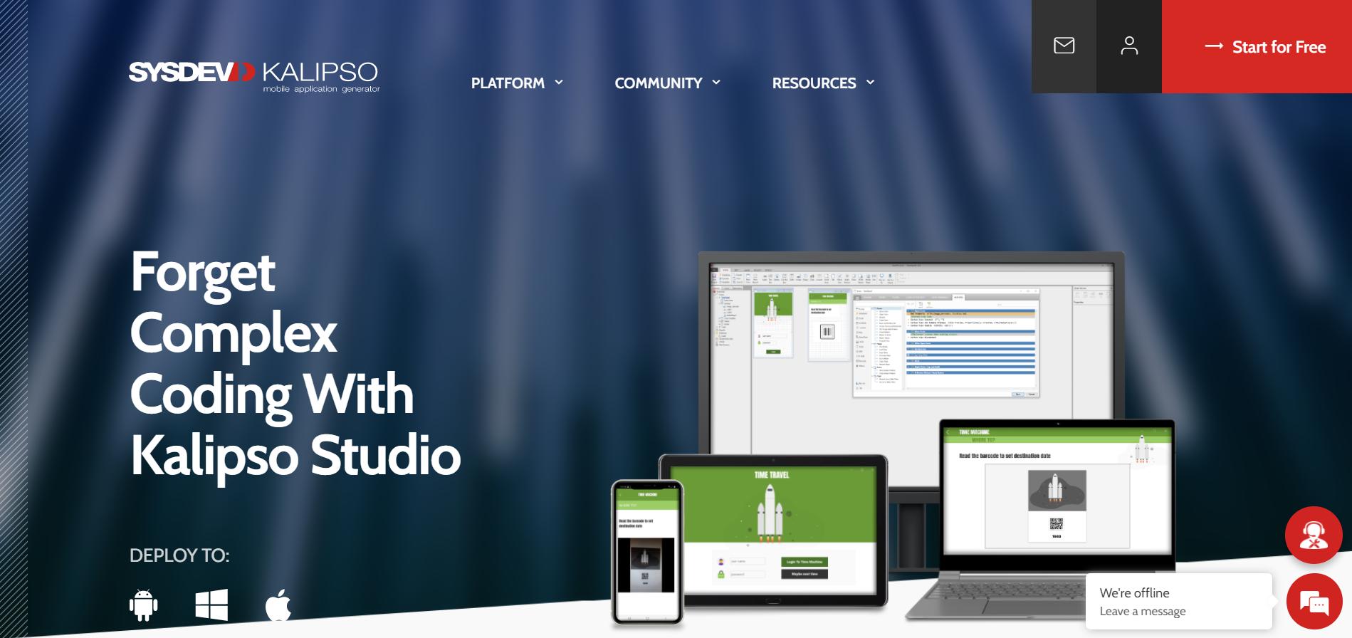 Конструктор мобильных приложений Kalipso Studio