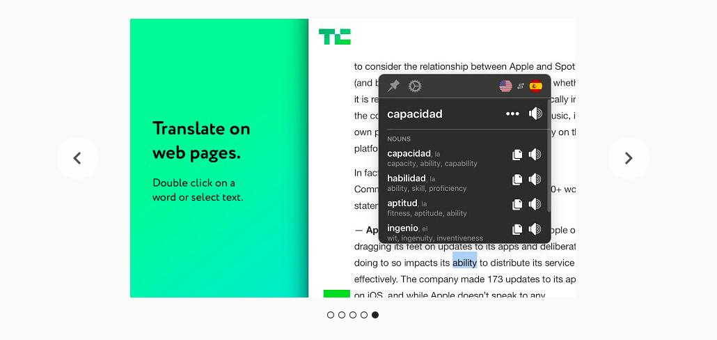 Дизайн плагина Mate Translate для Google Chrome
