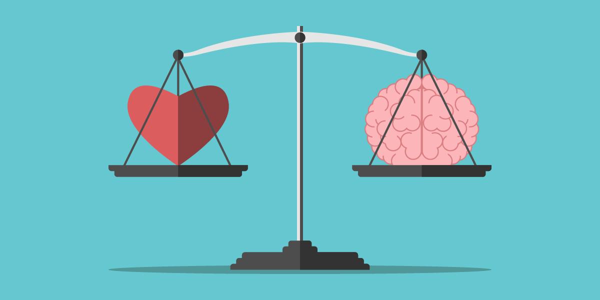 Иллюстрация на тему баланса между EQ и IQ