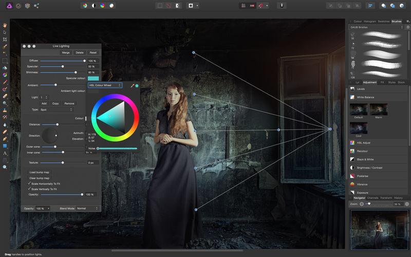 Дизайн лучшего редактора фото для Windows Afiinity Photo