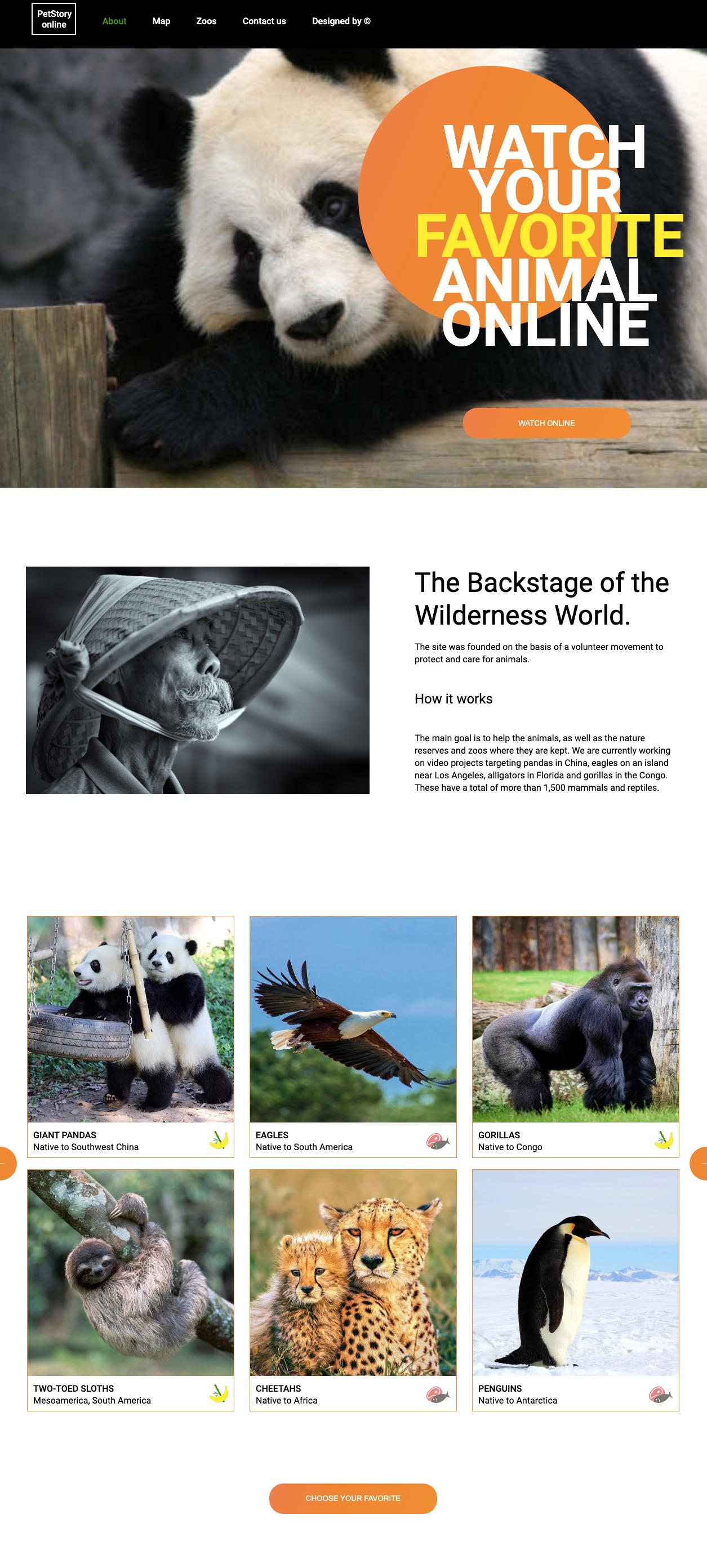Сайт, оформленный с помощью CSS