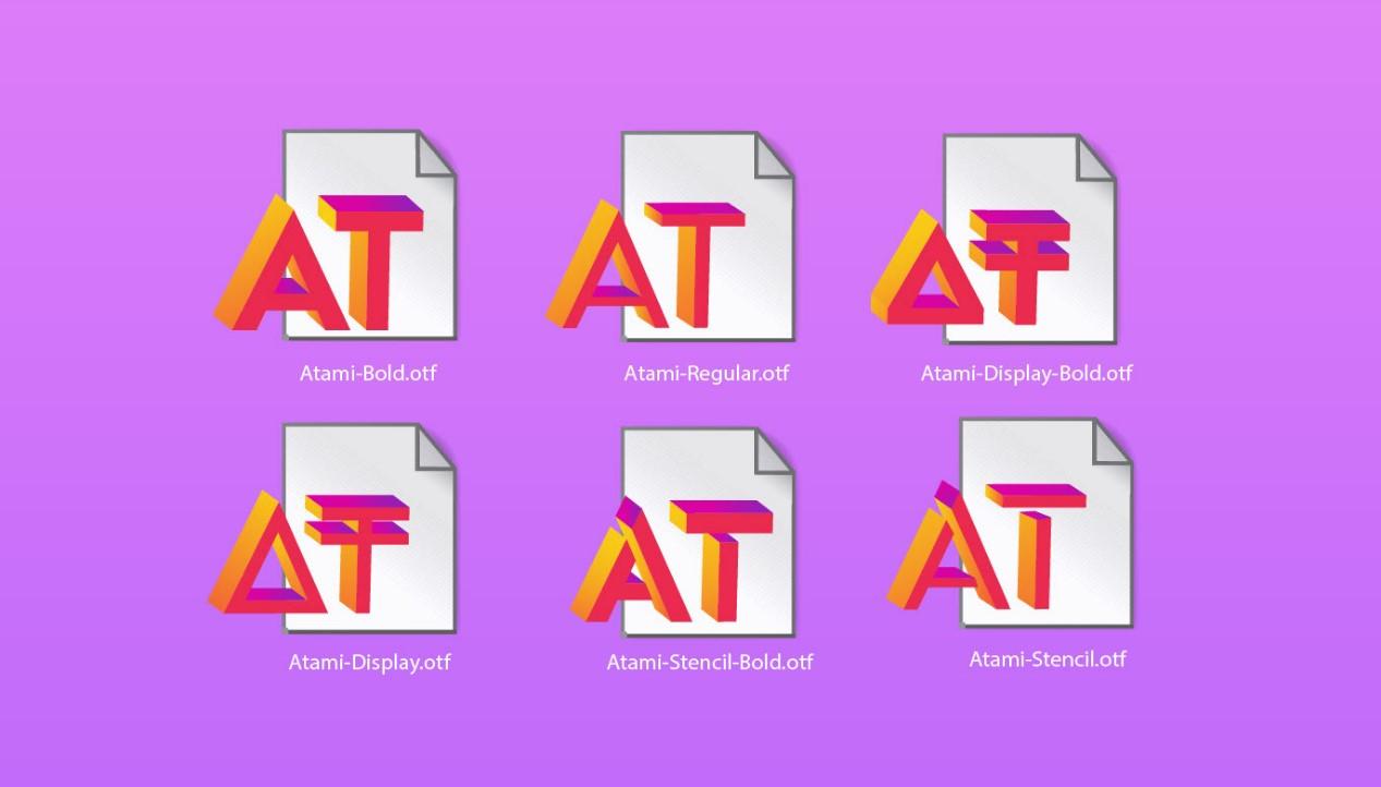 Шрифт Atami и его вариации для создания лого