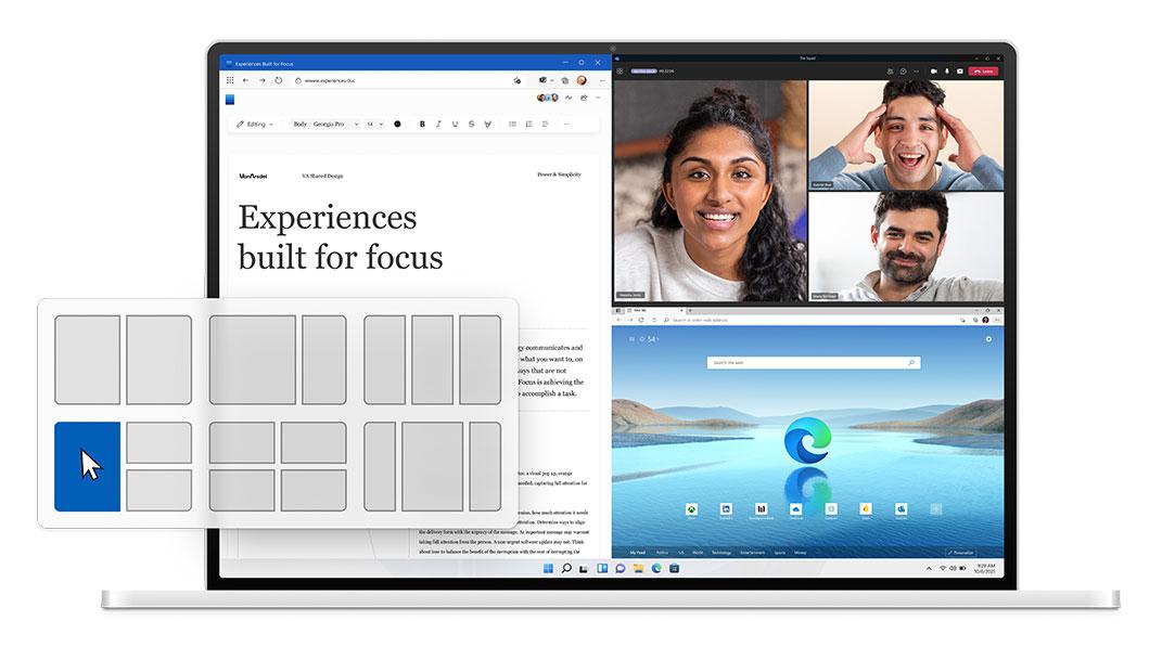 Новые способы управления окнами в Windows 11