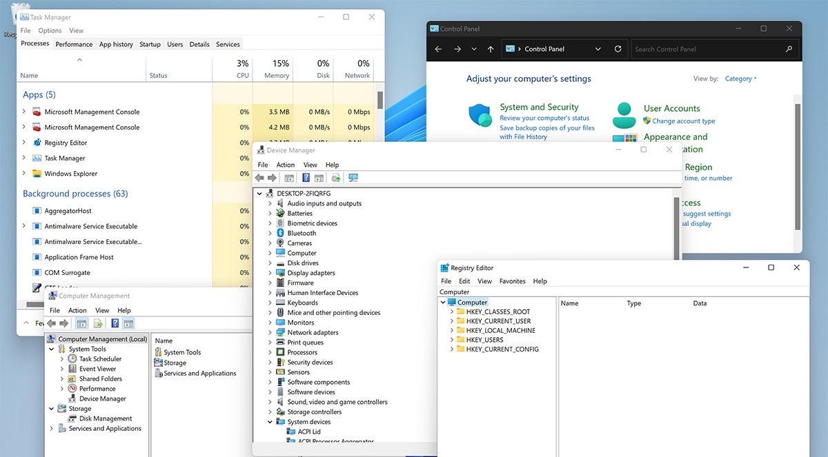 Устаревшие элементы интерфейса в Windows 11