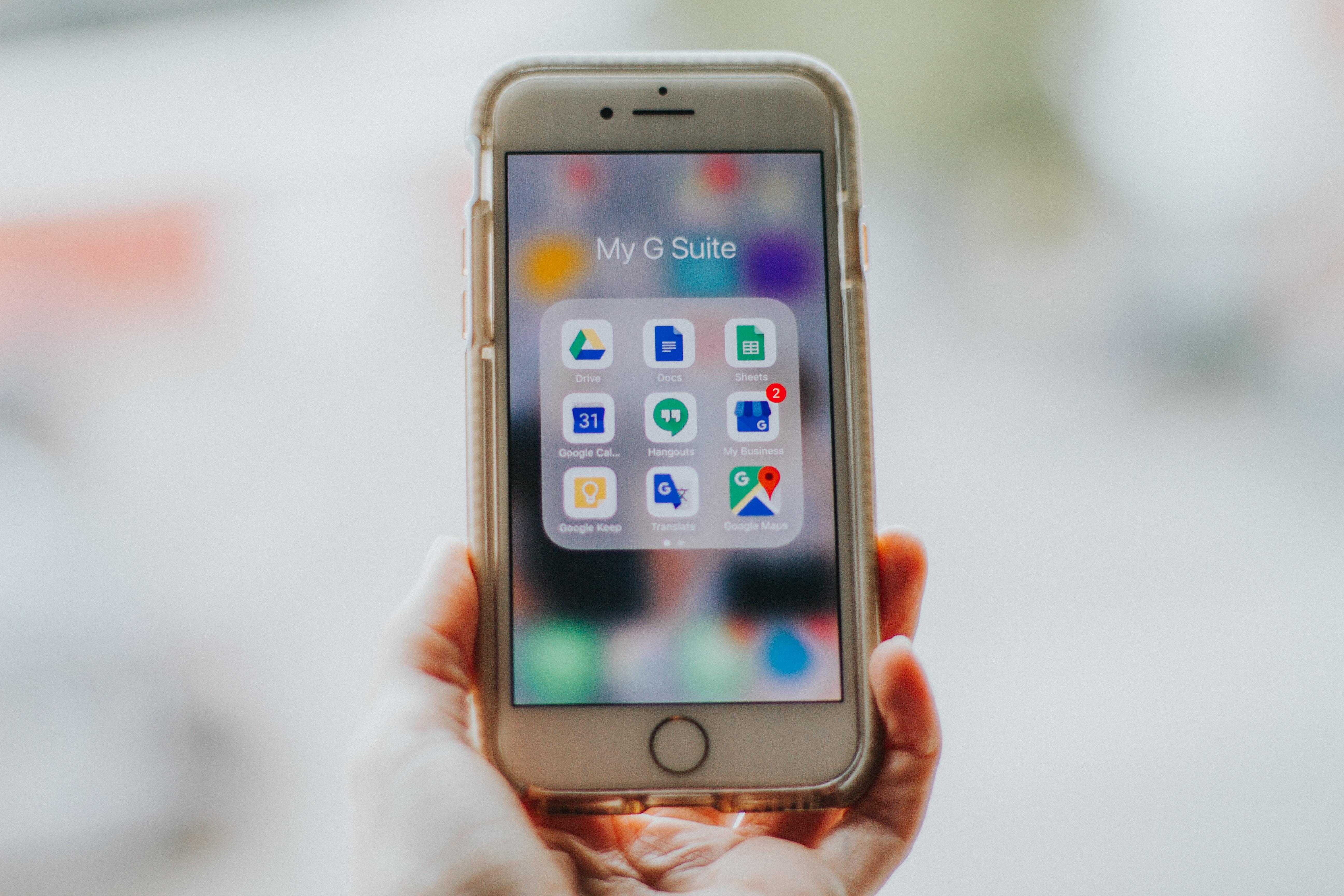 Мобильные приложение Google на Айфоне