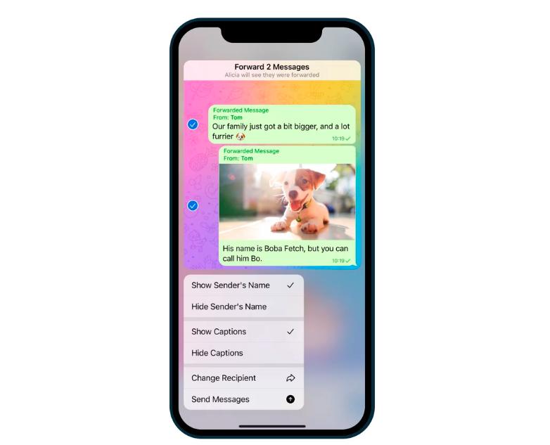 Обновленные настройки перенаправления в Telegram