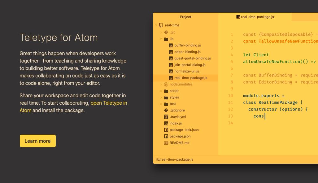 HTML-редактор Atom