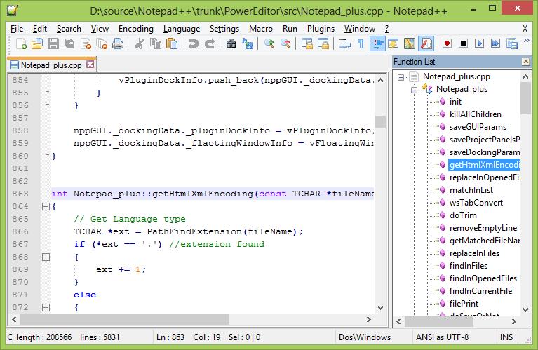 Открытие файла формата JSON через notepad++
