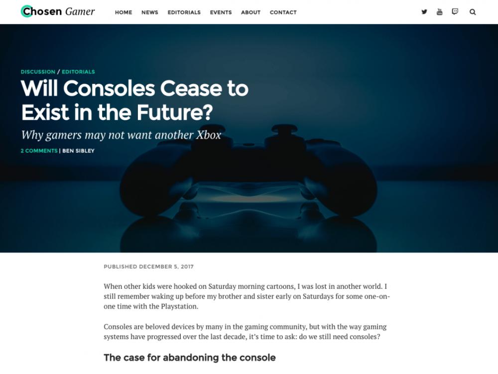 Chosen Gamer WordPress плагин