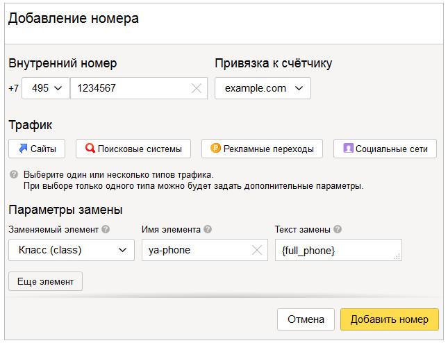 Использование коллтрекинга Яндекс Целевой звонок для отслеживания звонков