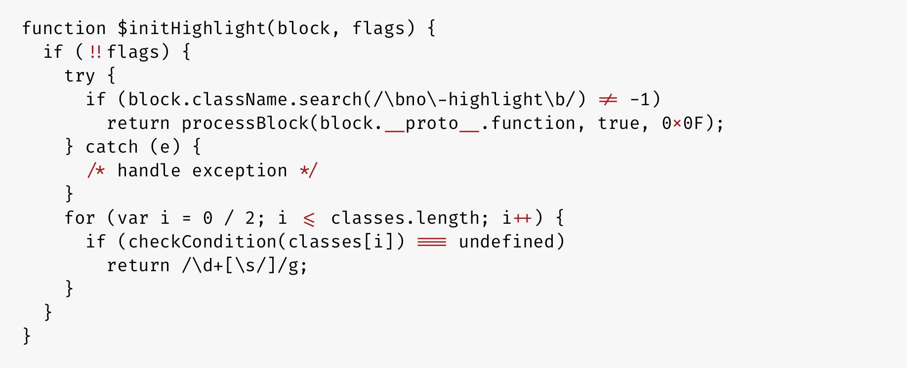 Пример JavaScript