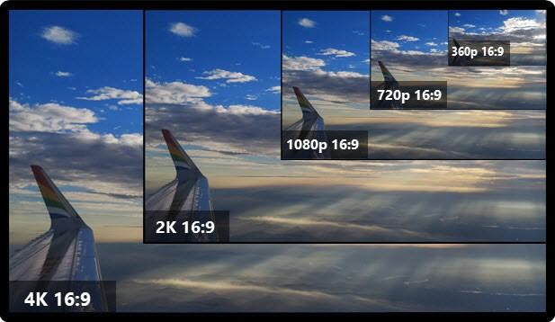 Пример видео с соотношением сторон 16:9