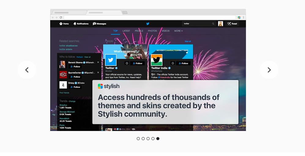 Сайт, измененный приложением Stylish