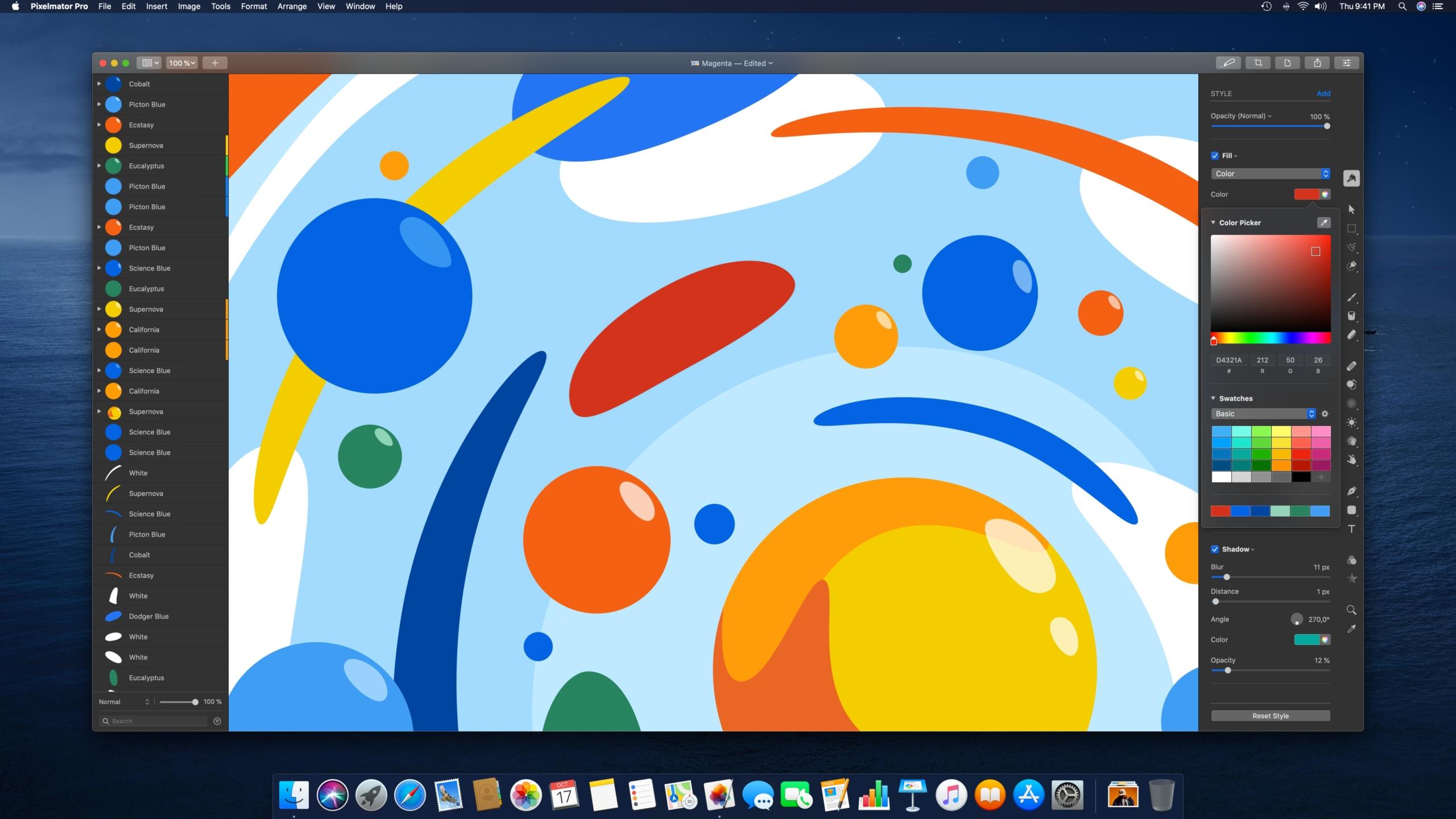 Интерфейс программы Pixelmator Pro