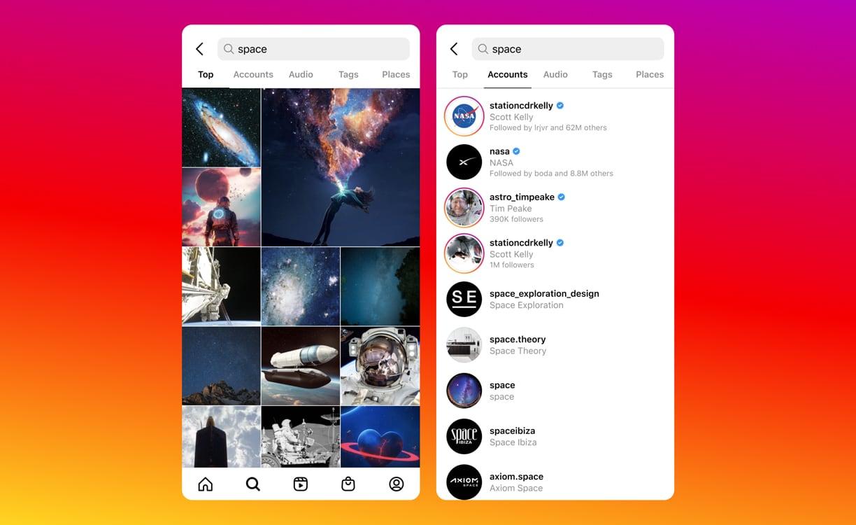 Изменения в поиске Instagram