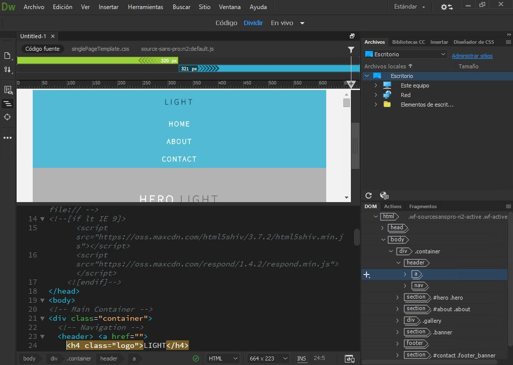 HTML-компилятор Dreamweaver