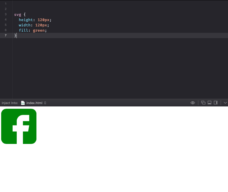 Пример замены цвета изображения с помощью CSS