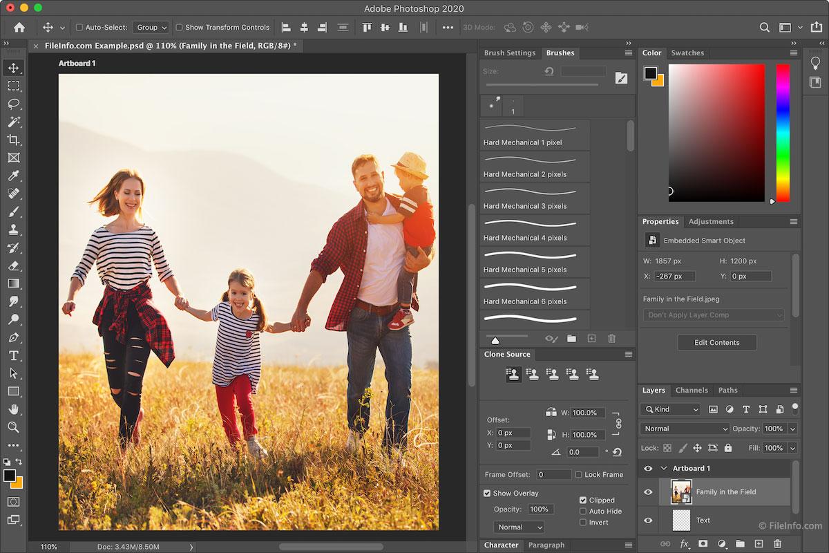 Интерфейс лучшего редактора фото Adobe Photoshop