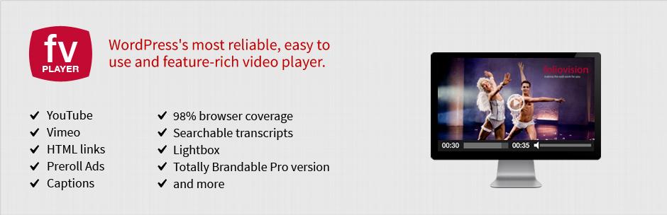 FV Flowplayer Video Player видеоплагин для WordPress